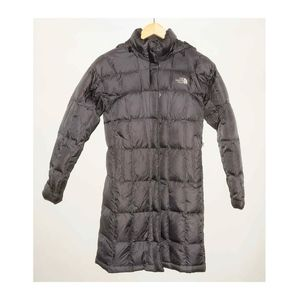 The North Face Brown Long Puffer Winter Jacket XS